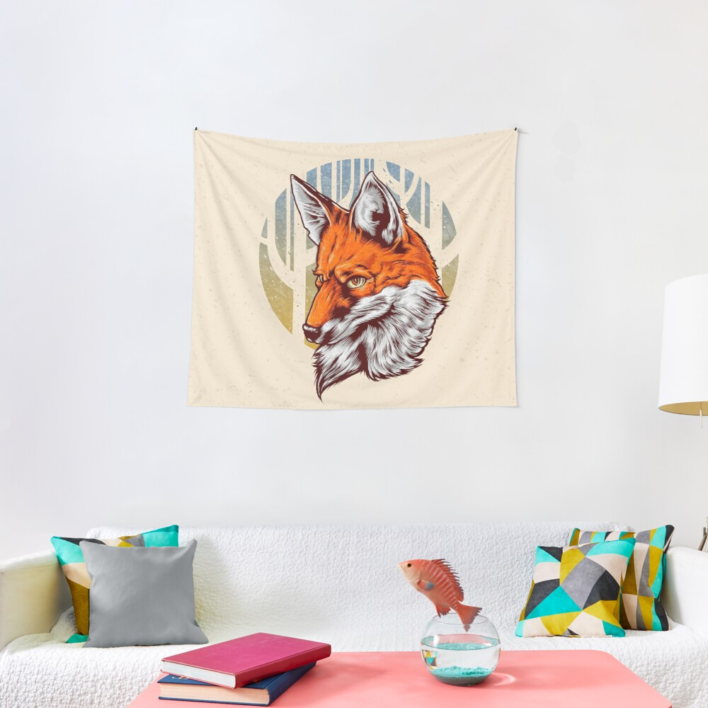 Forest Fox Tapestry