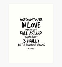 Dr seuss quotes art prints redbubble in love quote dr seuss art print thecheapjerseys Images