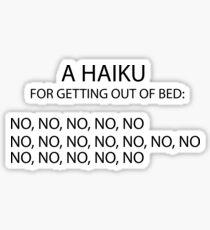 Sarcastic Haiku Poetry Sticker