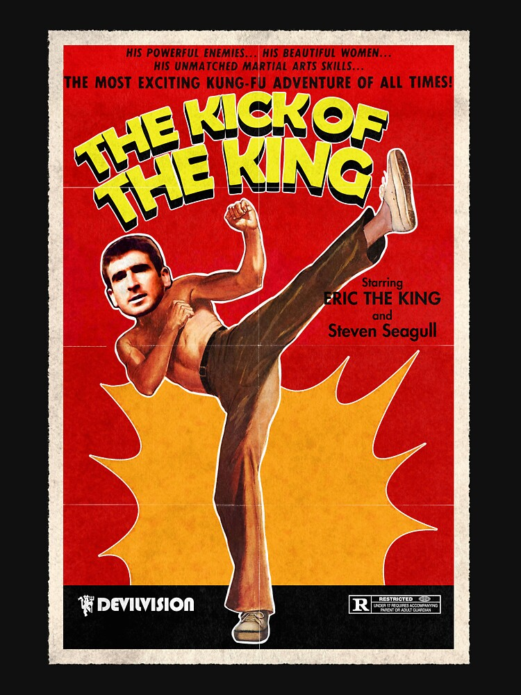 The Kick of the King (Eric Cantona) by mizzlecat