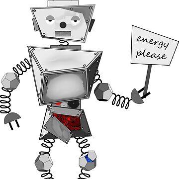 Broken robot t-shirt by aleksmm-11