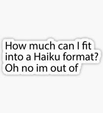 Funny Haiku Sticker