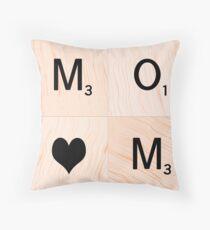 Gift for MOM Scrabble Tile Art - Mother's Day Throw Pillow