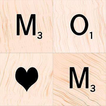 Gift for MOM Scrabble Tile Art - Mother's Day by EKartPrints