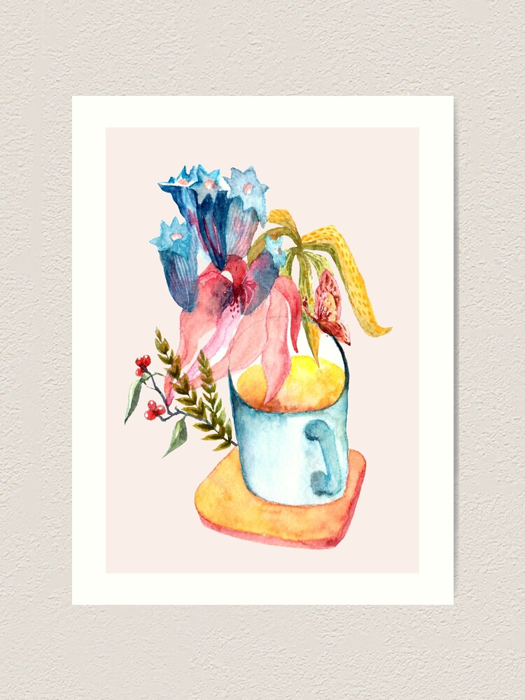 Alternate view of Wild Flowers in a Mug Art Print