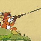 The fox with the blowgun by E-Maniak