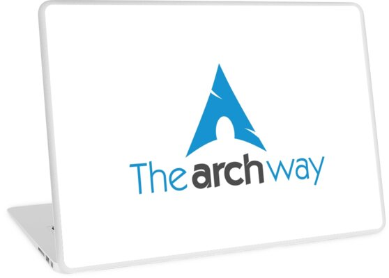 'The Arch Way, Arch Linux, Arch Logotype, Arch Logo, Arch' Laptop Skin by  marzzgraphics