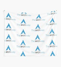 The Arch Way, Arch Linux, Arch Logotype, Arch Logo, Arch Wall Tapestry
