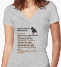 Dogs Are Better Than Children Women's Fitted V-Neck T-Shirt