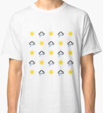 Sun and rain weather symbols Classic T-Shirt
