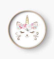 Reloj vintage Kawaii unicat, kitty kat, unicornio, corona de flores, lindo gato, fiesta de gato, regalo de unicat, lindo unicornio, fiesta de unicornio, unicorncat, mujer