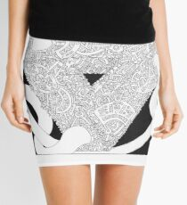 Escherian Convergencies #XXXIV Mini Skirt