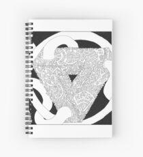 Escherian Convergencies #XXXIV Spiral Notebook