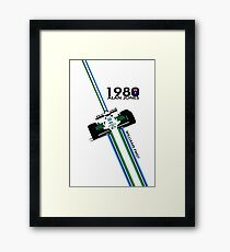 ALAN JONES - WILLIAMS 1980  Framed Print