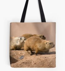 The Running of the Prairie Dogs Tote Bag