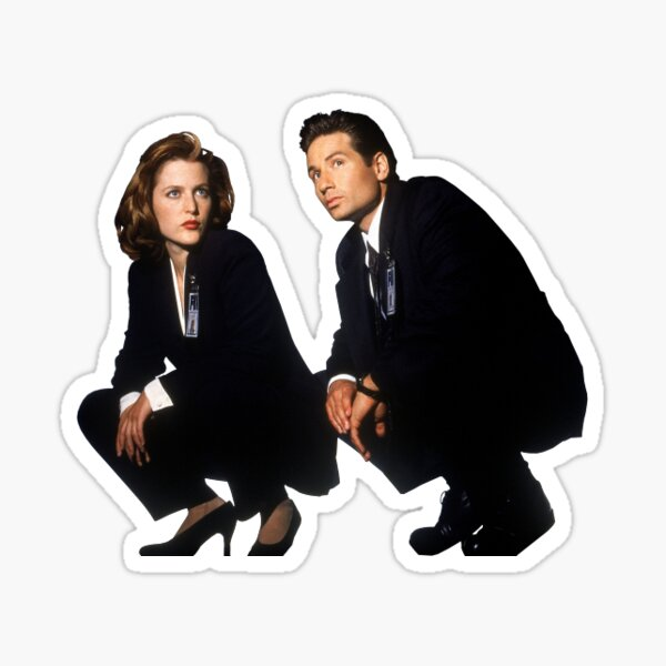 Mulder y Scully Pegatina