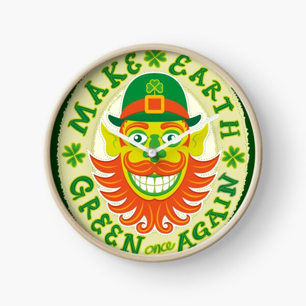 Make Earth green once again in honor to Saint Patrick Clock