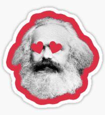 Karl Marx w/ heart eyes!!! Sticker