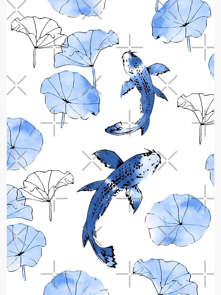Waterlily koi in blue by adenaJ