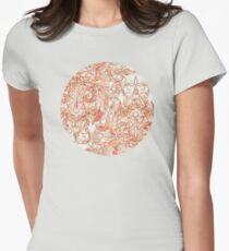 Autumn Peach Art Nouveau Pattern T-Shirt