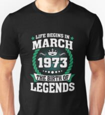 March 1973 The Birth Of Legends Slim Fit T-Shirt