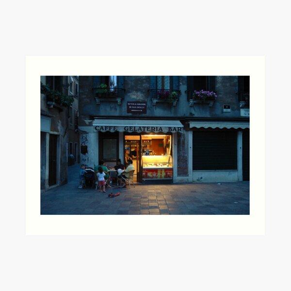 Caffe Gelateria Bar Art Print