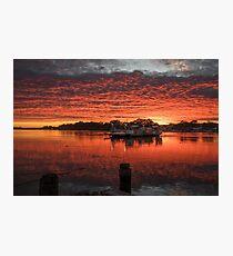 Ferry Sunrise Photographic Print