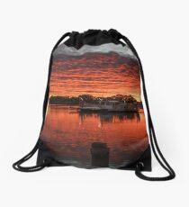 Ferry Sunrise Drawstring Bag