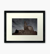 Dark Skies at Monument Valley Framed Print