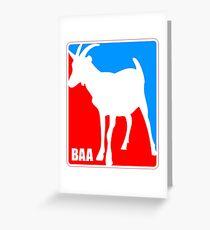 Goat BAA Logo Greeting Card