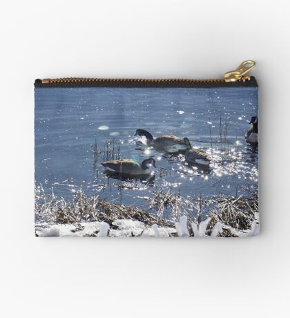 """Winter geese with a """"sparkle"""" ! Studio Pouch"""