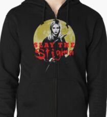 Buffy The Vampire Slayer Slay The Stigma Zipped Hoodie