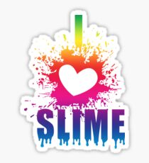 I Love Slime - Funny T Shirt Gift idea for slime parties Sticker