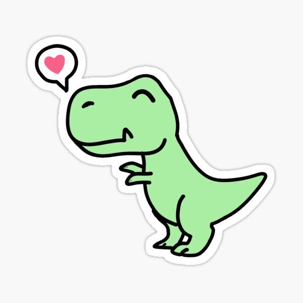 Kawaii T-rex Dinosaur Sticker