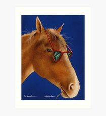 Will Bullas / art print / the horse lover... / humor / animals Art Print