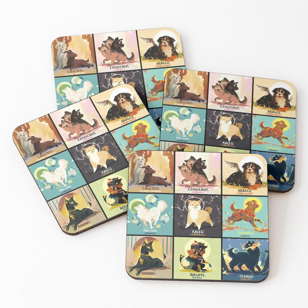Mytho doggos #2 Coasters (Set of 4)