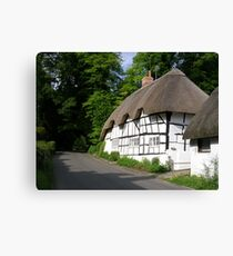 Wherwell Cottages Canvas Print