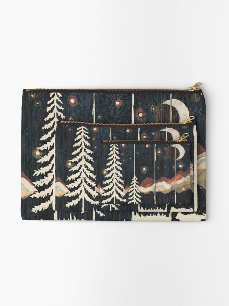 Alternate view of Starry Night in the Mountains... Zipper Pouch
