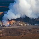 gas vent at Halema'uma'u Crater by Lawrence Taguma