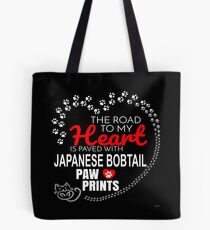The Road To My Heart Is Paved With Japanese Bobtail Paw Prints - Gift For Passionate Japanese Bobtail Cat Owners Tote Bag