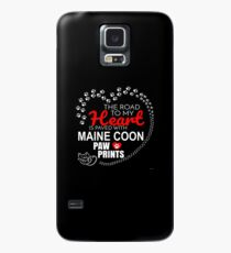 The Road To My Heart Is Paved With Maine Coon Paw Prints - Gift For Passionate Maine Coon Cat Owners Case/Skin for Samsung Galaxy