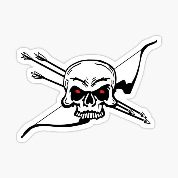 SKULL 'N BOW (Archery by BOWTIQUE) Sticker