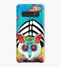 Sunflower Cat Case/Skin for Samsung Galaxy