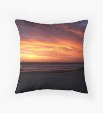 Backbeach Sunset Throw Pillow