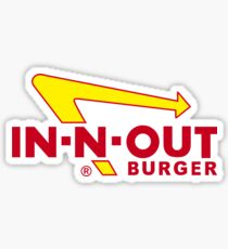 IN-N-OUT Burger Aufkleber Sticker