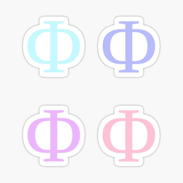 PHI / 4 PACK / UNICORN Sticker
