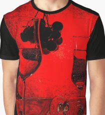 Red still life with grapes Graphic T-Shirt