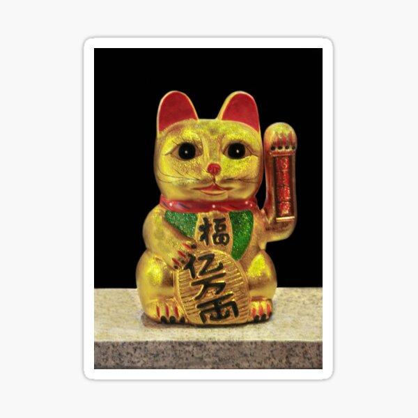 Maneki-neko for Good Luck! ( Japan 1876) Sticker
