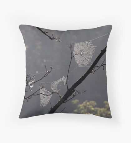 Spiders' Webs Throw Pillow