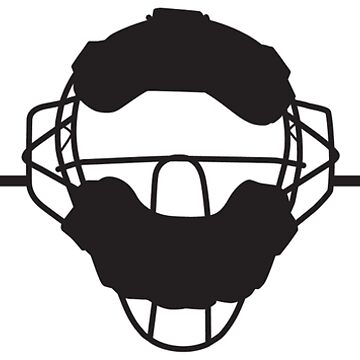 Heartbeat / Pulse - Baseball Catcher's Mask Silhouette  by SandpiperDesign